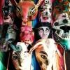 ゲレーロ州の木彫り仮面が入荷しました。