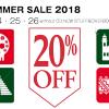 2018年 夏のセールのお知らせ